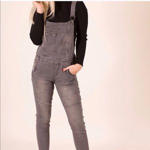 Other - Faded black overalls